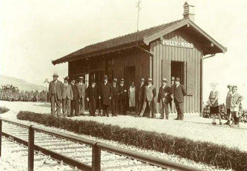 Gare de Pully-Nord, 1929