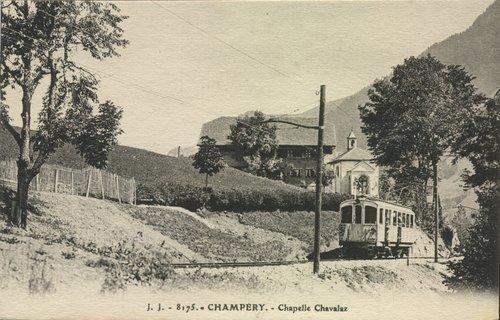 Champéry, Chapelle de Chavalet et le train MCM