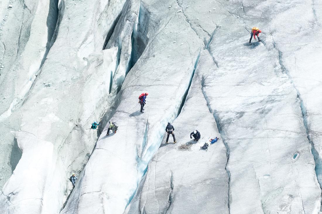 Le glacier de Moiry en 2017