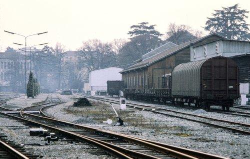 Genève, les voies de triage de la Gare des Eaux-Vives