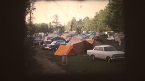 Camping de Salavaux en 1964.