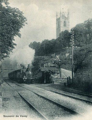 Le passage du train à Vevey
