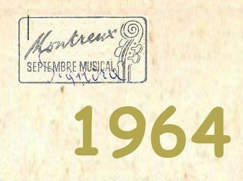 Image pour sous-dossier Septembre Musical de Montreux 1964