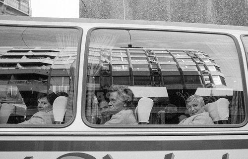 Genève, un car de touristes