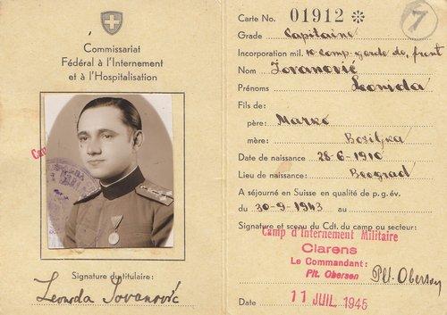Capitaine serbe interné à Clarens