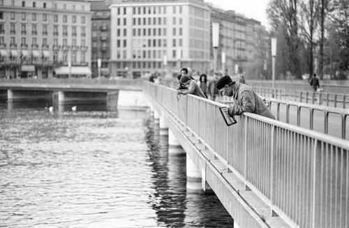 Genève, la pêche au cadre
