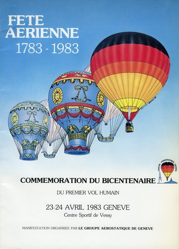 Genève, fête aérienne 1783-1983