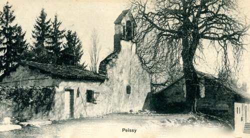 L'ancien temple de Peissy