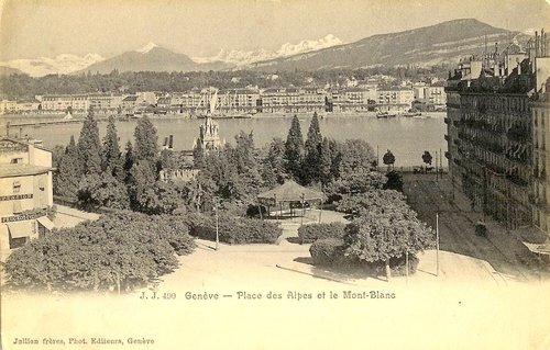 Genève, place des Alpes