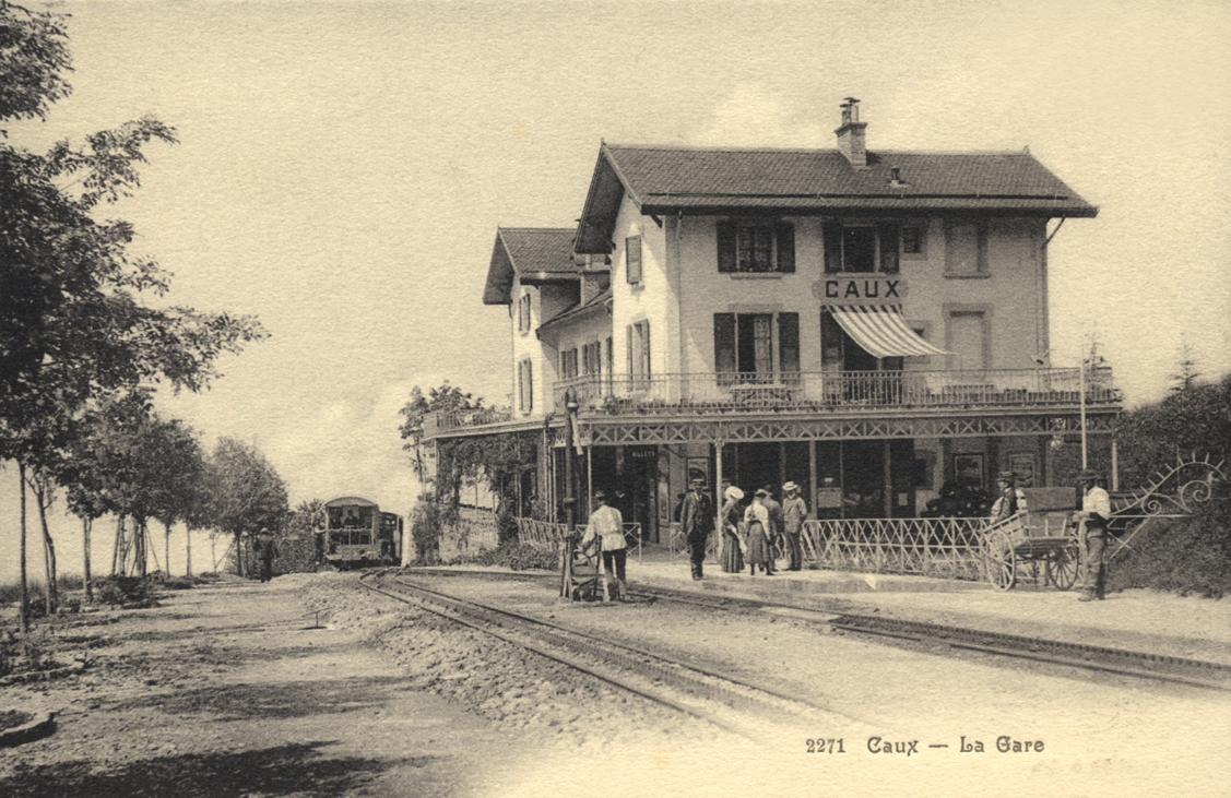Gare de Caux en 1910