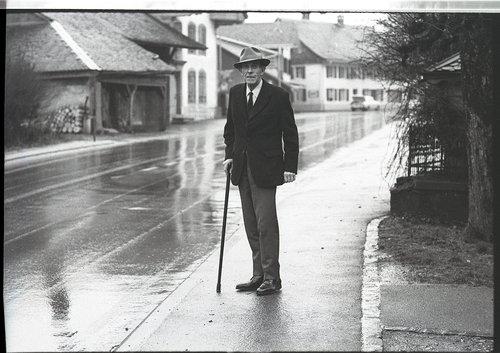 Gustave Roud photographié par Simone Oppliger