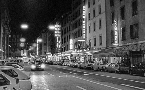 Genève, la Rue de Berne en 1980