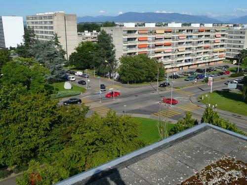 Meyrin carrefour rue Gilbert Rue de Livron en 2007