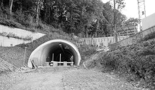 Le Tunnel de Carouge en construction