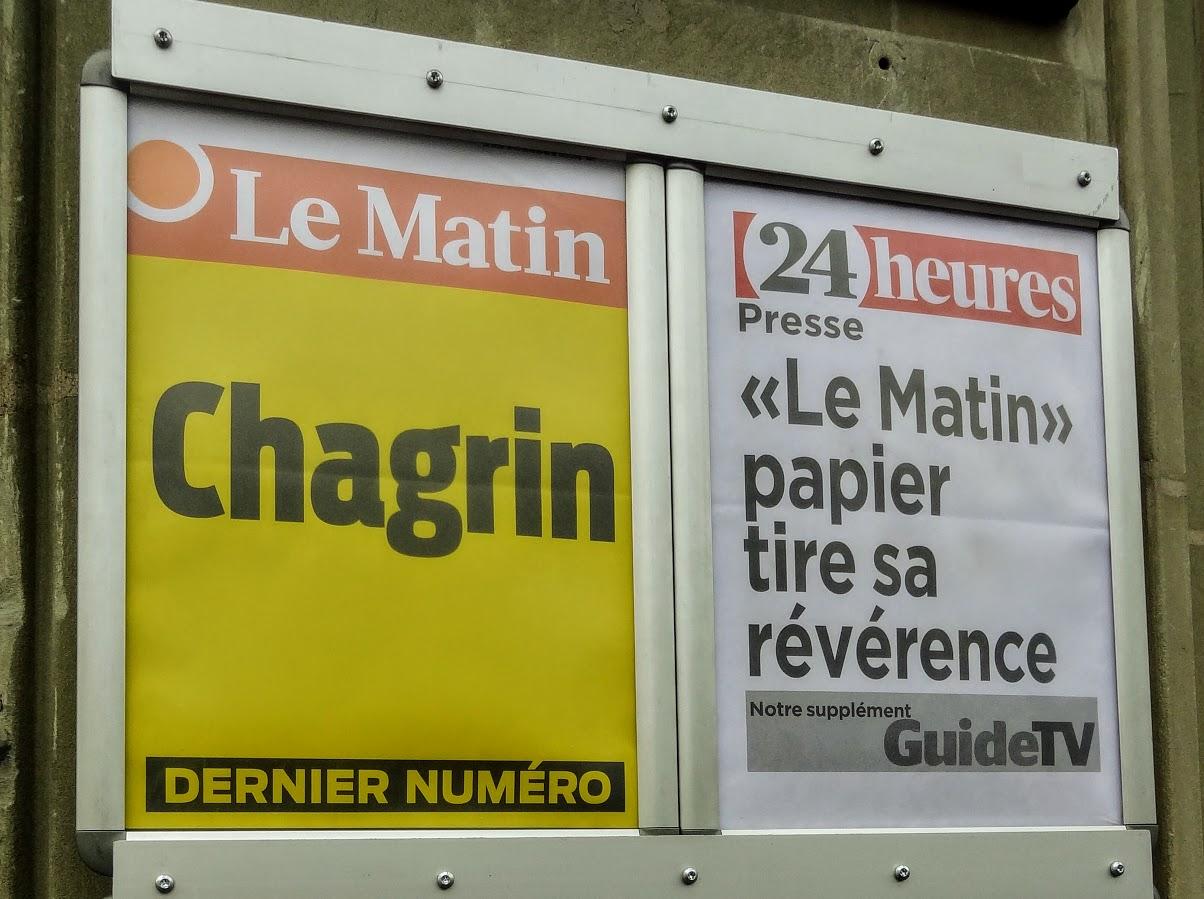 Dernière édition du journal «Le Matin»