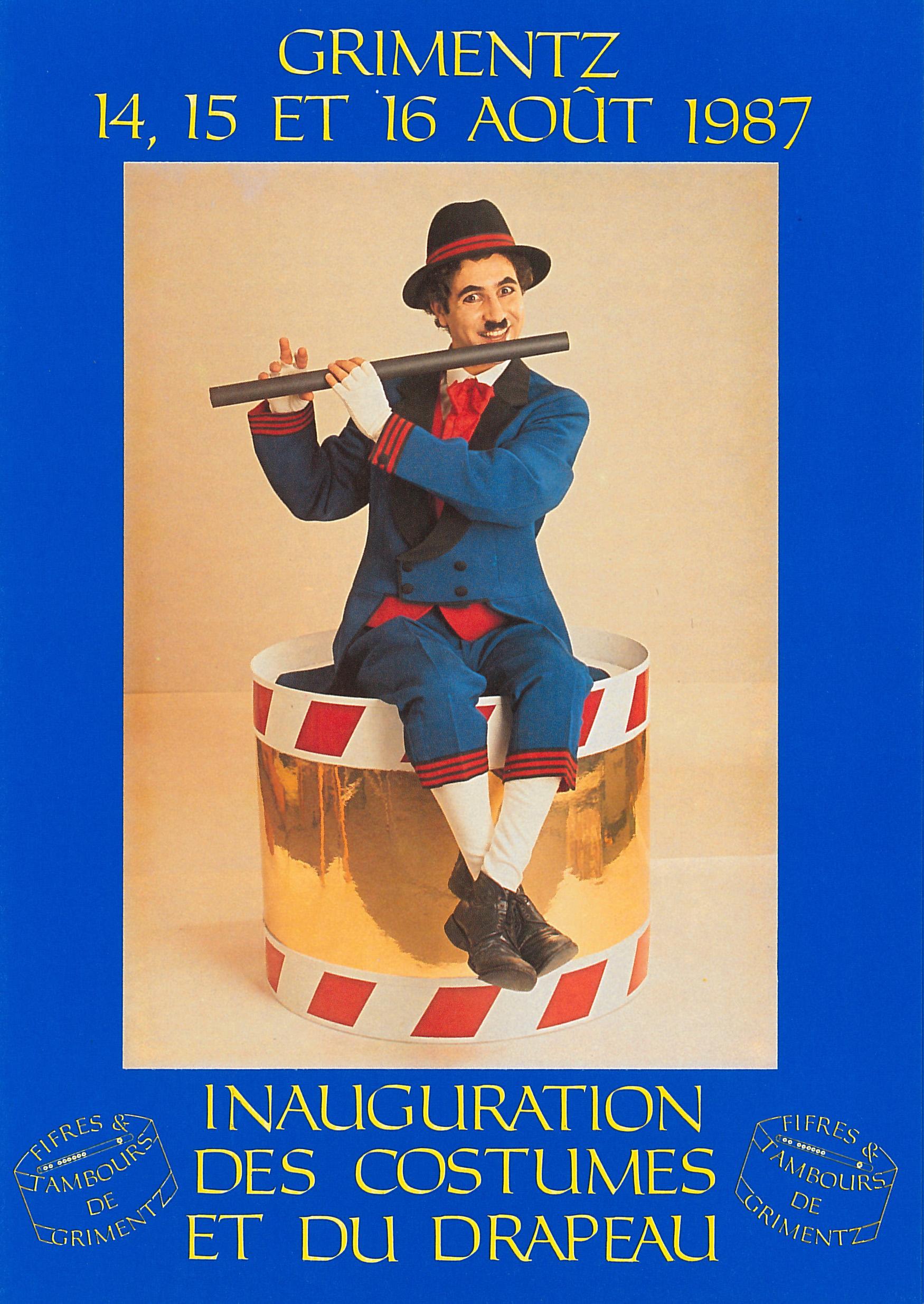 Affiche pour l'inauguration des costumes de 1987