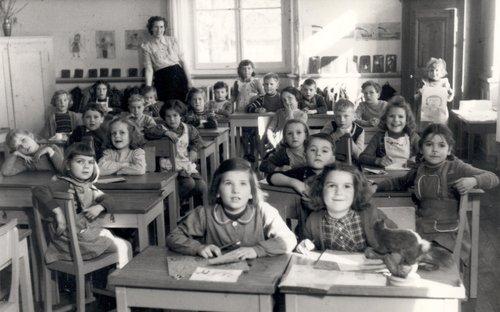 Clarens 1952 Classe enfantine Melle Mettraux