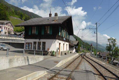 La gare de Val d'Illiez