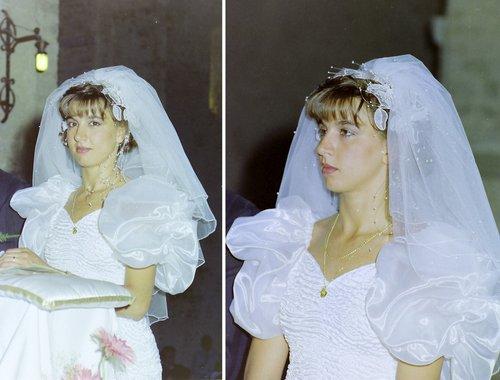 Ma femme Isabelle le jour de notre mariage