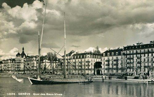 Genève, la rade et barque