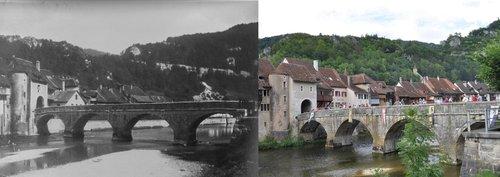 Le pont de Sainte-Ursanne: Hier/aujourd'hui