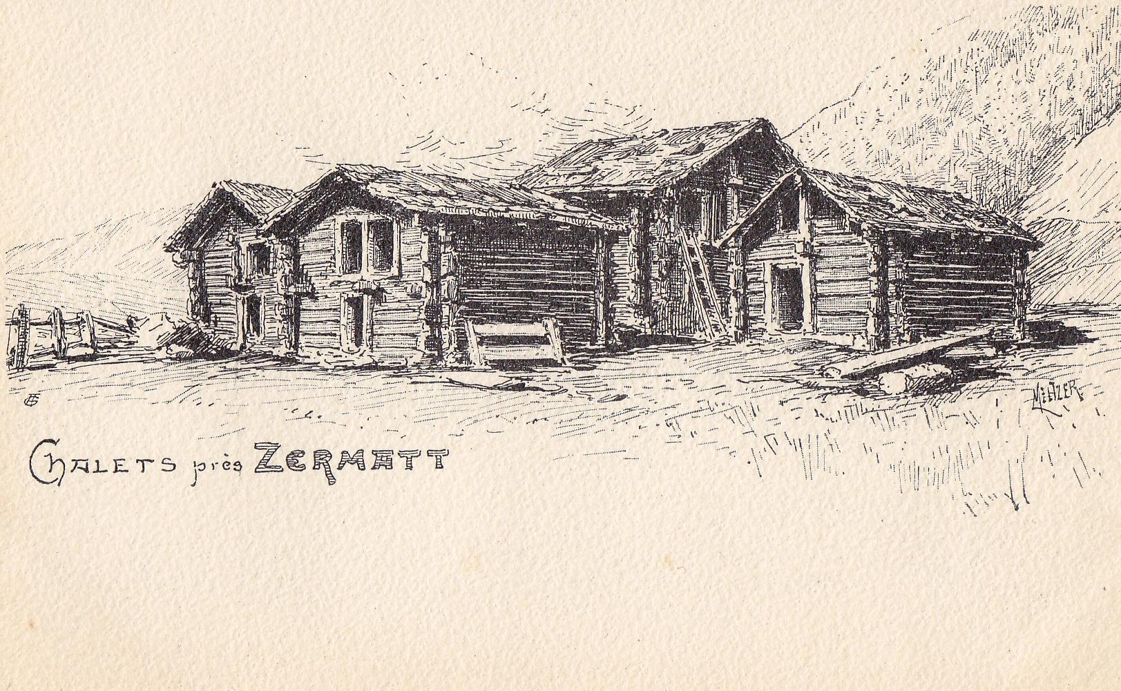 Chalets près de Zermatt