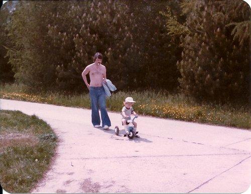 Balade en tricycle à Nyon 1982