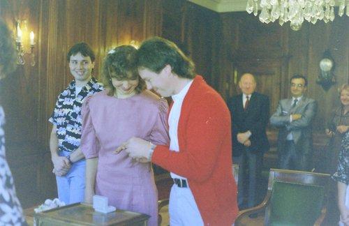 Notre mariage civil en 1989