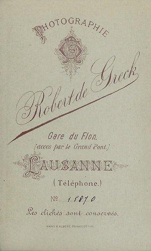 Cartouche de Robert de Greck, Lausanne