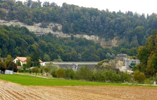 Fribourg, barrage de la Maigrauge
