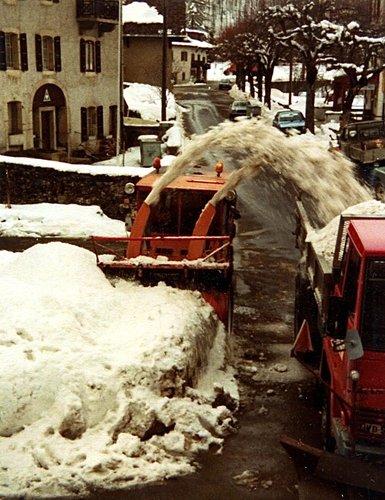 Famille André, l'évacuation de la neige
