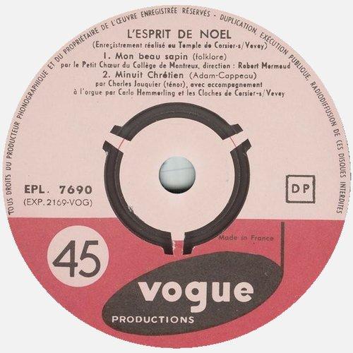 45 tours Vogue EPL. 7690, Étiquette verso
