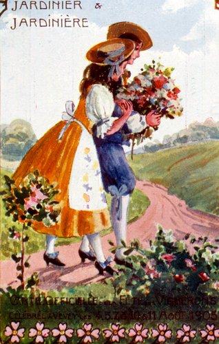 Fête des vignerons, jardinière et jardinier