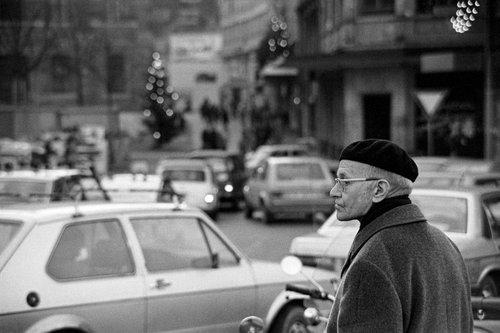 Genève, l'homme au béret