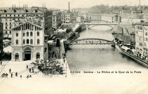Genève, la poste et son quai