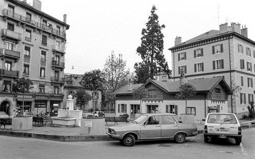 Genève, la Place des Grottes en 1983