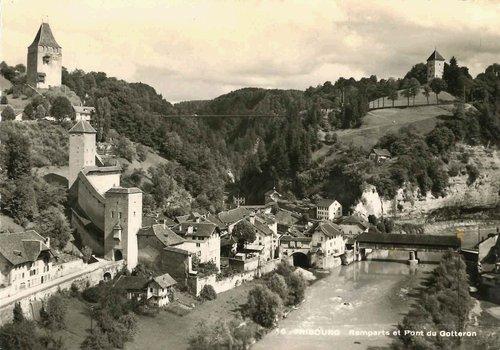 Fribourg - Remparts et pont du Gottéron