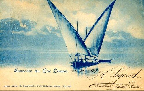 Une barque du Léman