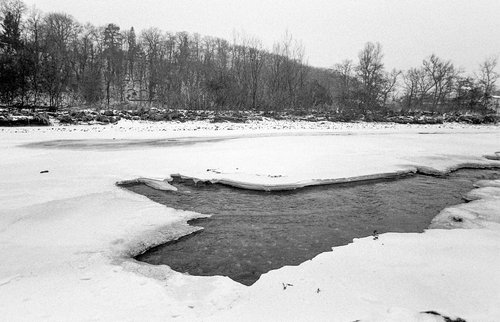 L'Arve gelée en 1985
