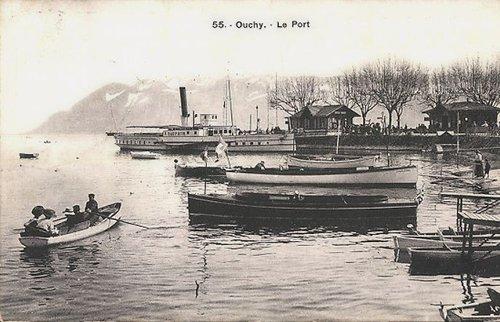 Lausanne Ouchy le port bateau Dauphin