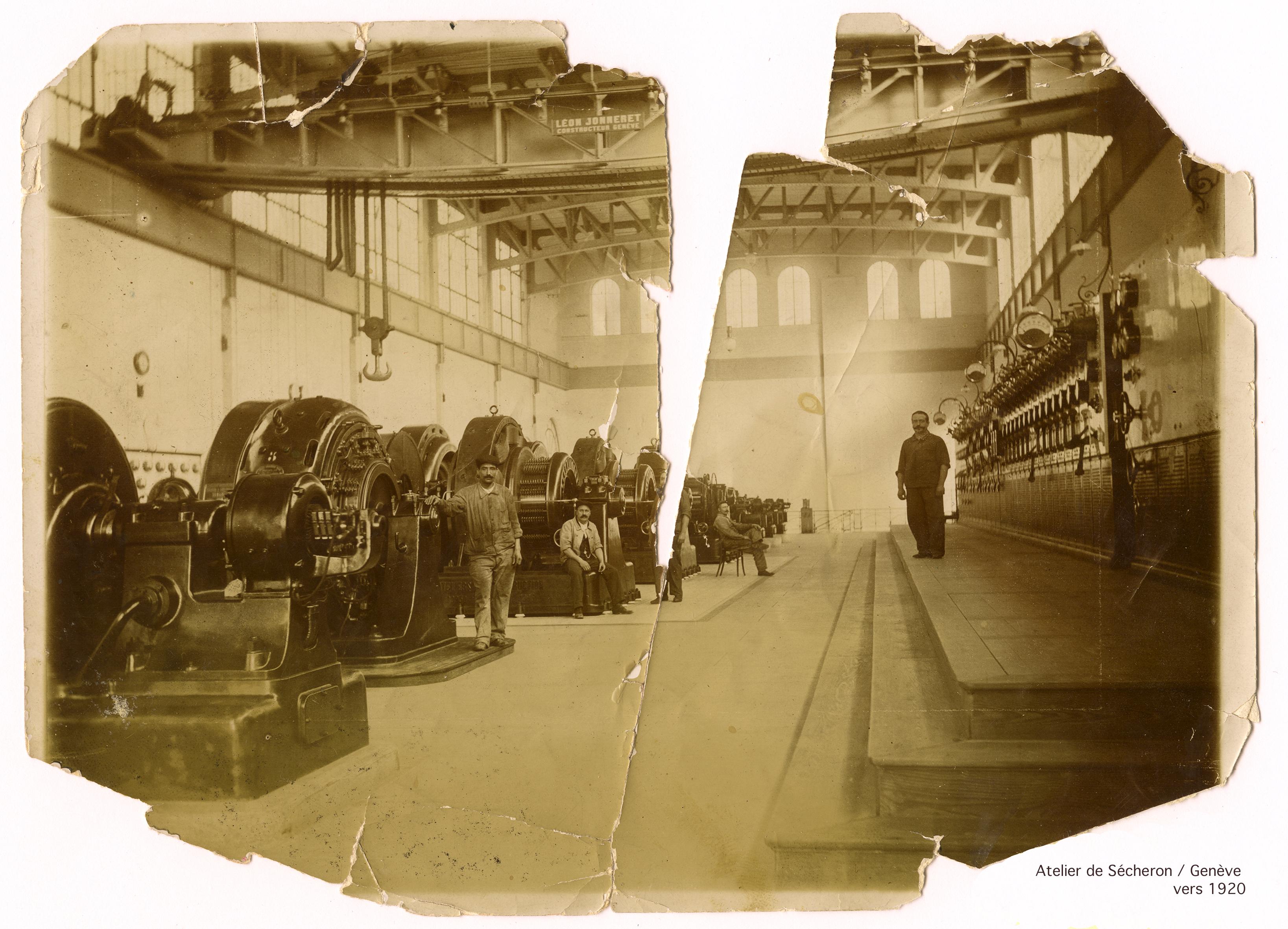 Atelier de Sécheron / Genève -  vers 1920