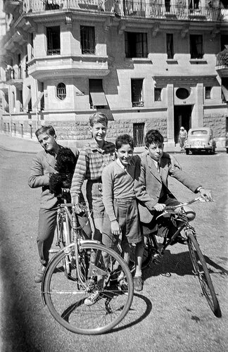 Genève, quatre copains