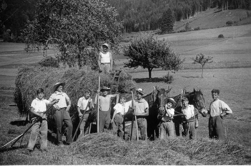 Les foins en 1942 Belfond