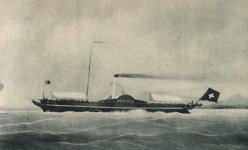 L' Helvétie, bateau de la Compagnie générale de Navigation sur le Léman, 1869