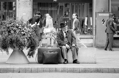 Genève, j'attends le tram