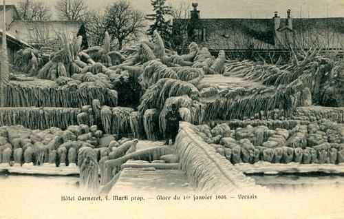 Versoix, Hôtel Garneret sous la glace