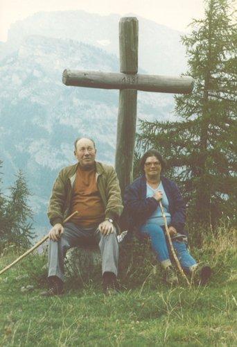 Ma Maman et mon Papa au Col du Lein