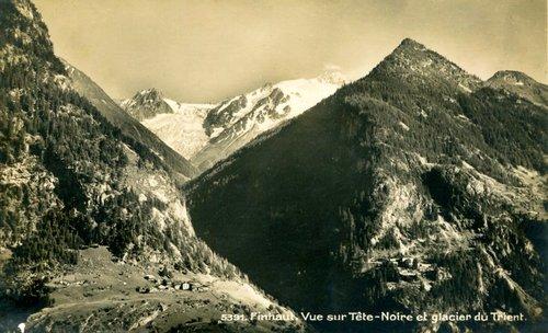 Tête-Noire et le glacier du Trient