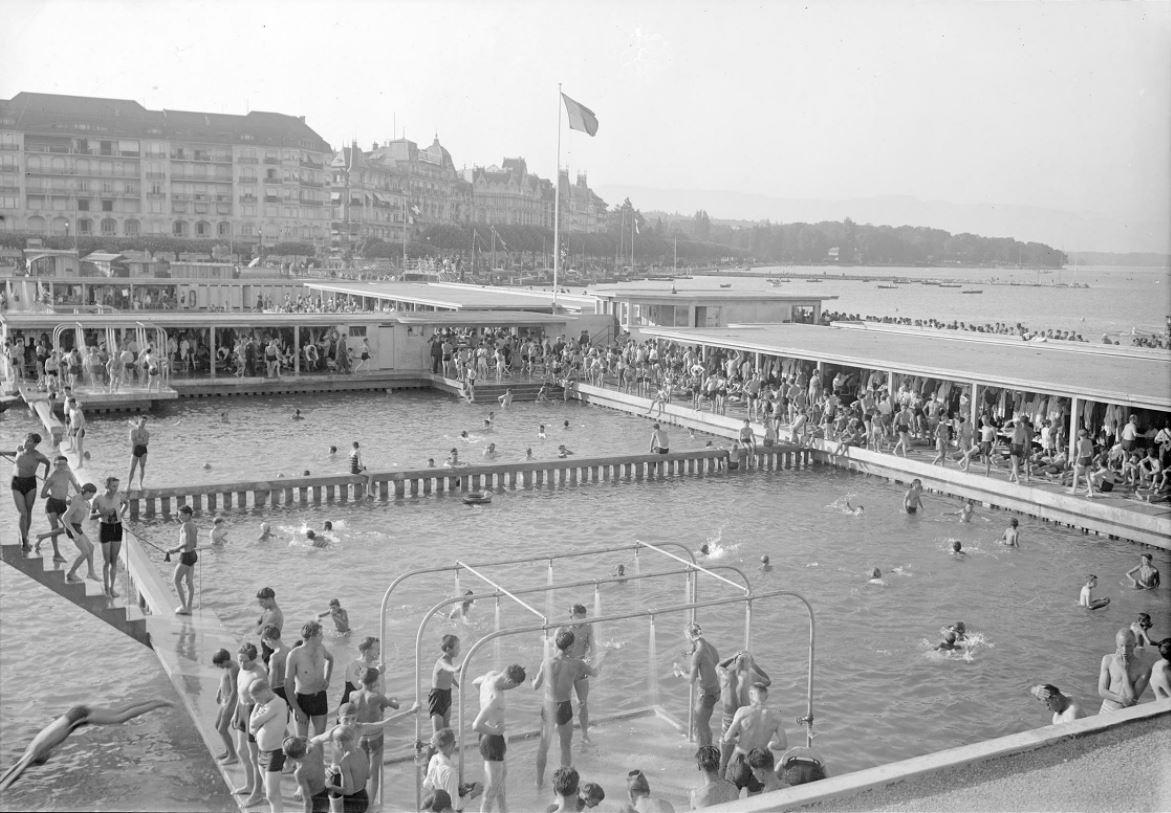 Genève - les bains: Hier/aujourd'hui