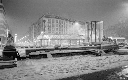 Genève, La Place de Cornavin sous la neige